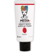 Dina Wakley Media Heavy Body Acrylic Paint 59ml - Ruby
