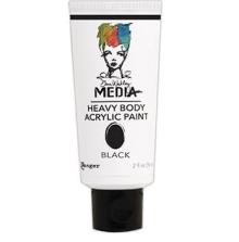 Dina Wakley Media Heavy Body Acrylic Paint 59ml - Black