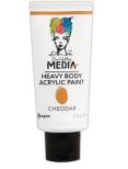 Dina Wakley Media Heavy Body Acrylic Paint 59ml - Cheddar