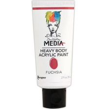 Dina Wakley Media Heavy Body Acrylic Paint 59ml - Fuchia