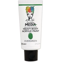 Dina Wakley Media Heavy Body Acrylic Paint 59ml - Evergreen
