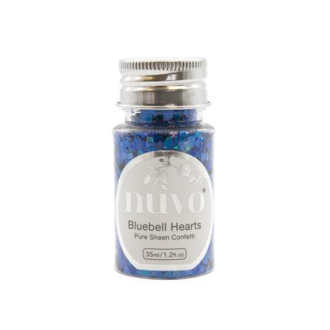 Tonic Studios Nuvo Pure Sheen Confetti 35ml - BlueBell Hearts 1070N