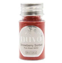 Tonic Studios Nuvo Pure Sheen Glitter 35ml - Strawberry Sorbet 1116N