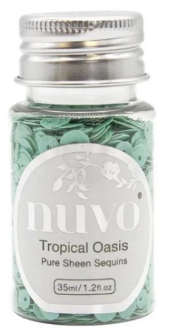 Tonic Studios Nuvo Pure Sheen Sequins 35ml - Tropical Oasis 1147N