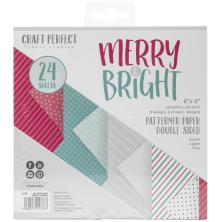 Tonic Studios Craft Perfect 6X6 Card Pack - Merry & Bright 9378E