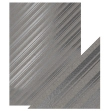 Tonic Studios Craft Perfect Foiled Kraft Card A4 Papers - Silver Strokes 9348E