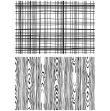 Tim Holtz Cling Stamps 7X8.5 -Lumberjack