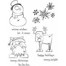 Tim Holtz Cling Stamps 7X8.5 -Merry Misfits