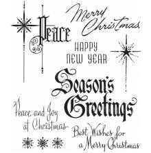 Tim Holtz Cling Stamps 7X8.5 -Christmastime #2