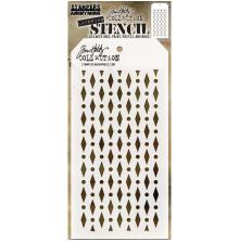 Tim Holtz Layered Stencil 4.125X8.5 - Diamond Dot
