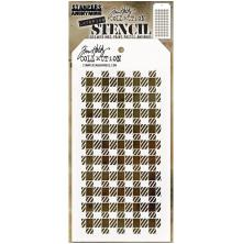 Tim Holtz Layered Stencil 4.125X8.5 - Gingham