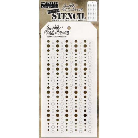 Tim Holtz Layered Stencil 4.125X8.5 - Shifter Baubles