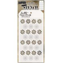 Tim Holtz Layered Stencil 4.125X8.5 - Shifter Peppermint