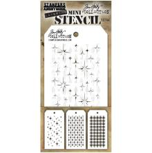 Tim Holtz Mini Layered Stencil Set 3/Pkg - Set 44