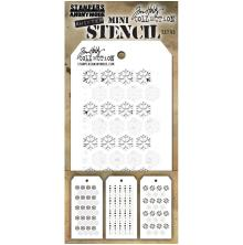 Tim Holtz Mini Layered Stencil Set 3/Pkg - Set #45