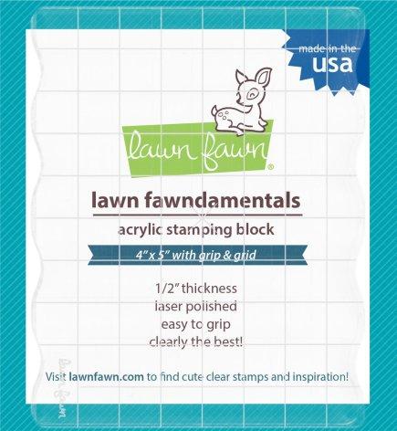 Lawn Fawn 4X5 Acrylic Stamping Block W/Grid