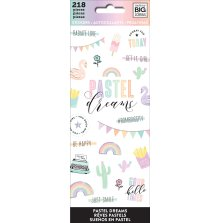 Me & My Big Ideas Stickers 218/Pkg - Pastel Dreams