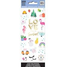 Me & My Big Ideas Stickers 255/Pkg - Love This Season