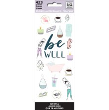 Me & My Big Ideas Stickers 423/Pkg - Be Well