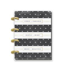Me & My Big Ideas MICRO Notebook - Rongrong Black & White Stripe