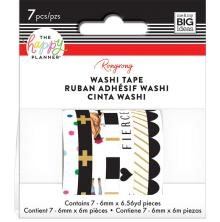 Me & My Big Ideas Happy Planner Washi Tape - Rongrong Black & White
