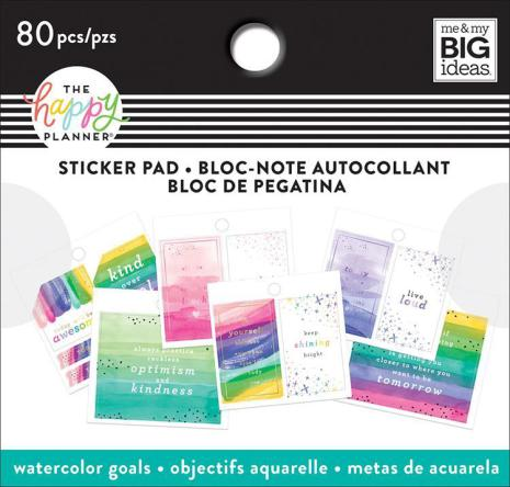 Me & My Big Ideas Happy Planner Tiny Sticker Pad - Watercolor