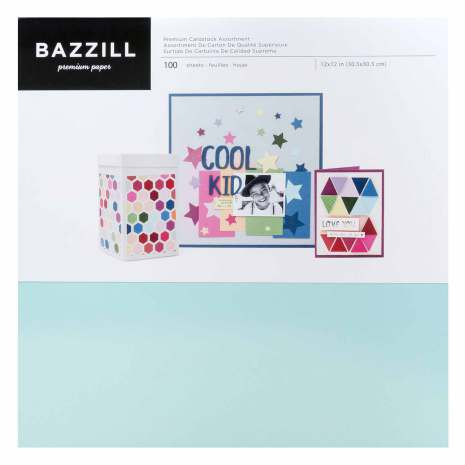 Bazzill Premium Cardstock 12X12 Paper Pack 100 Sheets