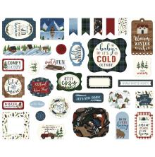 Echo Park Warm & Cozy Cardstock Die-Cuts - Ephemera