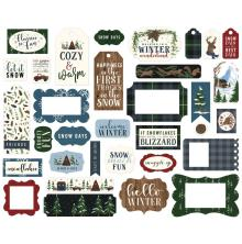 Echo Park Warm & Cozy Cardstock Die-Cuts - Frames & Tags