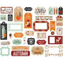 Echo Park My Favorite Fall Cardstock Die-Cuts - Frames & Tags