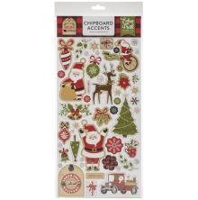 Echo Park My Favorite Christmas Chipboard 6X13 - Accents
