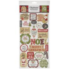 Echo Park My Favorite Christmas Chipboard 6X13 - Phrases