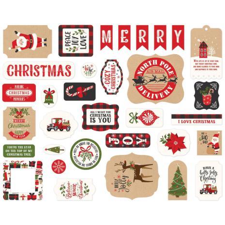 Echo Park My Favorite Christmas Cardstock Die-Cuts - Ephemera