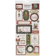 Echo Park Here Comes Santa Claus Chipboard 6X13 - Phrases