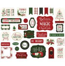 Echo Park Here Comes Santa Claus Cardstock Die-Cuts - Ephemera