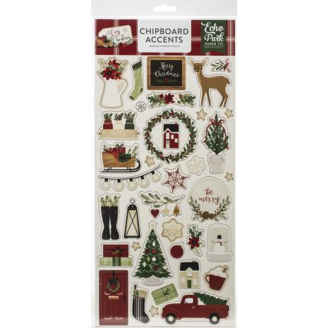 Echo Park A Cozy Christmas Chipboard 6X13 - Accents