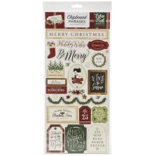 Echo Park A Cozy Christmas Chipboard 6X13 - Phrases
