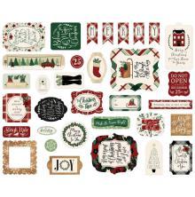 Echo Park A Cozy Christmas Cardstock Die-Cuts - Ephemera