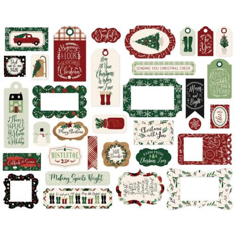 Echo Park A Cozy Christmas Cardstock Die-Cuts - Frames & Tags