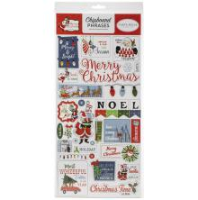 Carta Bella Merry Christmas Chipboard 6X13 - Phrases