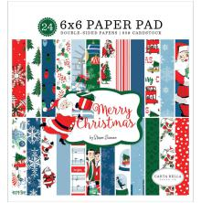Carta Bella Double-Sided Paper Pad 6X6 - Merry Christmas