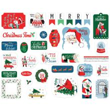Carta Bella Merry Christmas Cardstock Die-Cuts - Ephemera UTGÅENDE