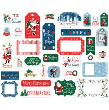 Carta Bella Merry Christmas Cardstock Ephemera - Frames & Tags