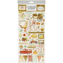 Carta Bella Fall Market Chipboard 6X13 - Accents
