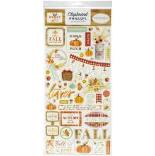 Carta Bella Fall Market Chipboard 6X13 - Phrases