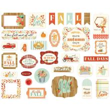 Carta Bella Fall Market Cardstock Die-Cuts - Ephemera