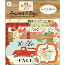Carta Bella Fall Market Cardstock Ephemera - Frames & Tags