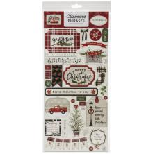Carta Bella Christmas Market Chipboard 6X13 - Phrases