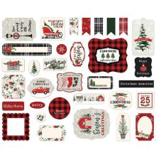 Carta Bella Christmas Market Cardstock Die-Cuts - Ephemera