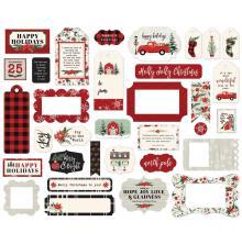 Carta Bella Christmas Market Cardstock Ephemera - Frames & Tags
